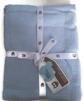 Baby deken|blauw Mt 75x100 cm