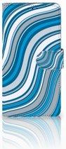 Samsung Galaxy A9 2018 Boekhoesje Design Waves Blue