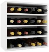 Vcm Weino IV beuken Wijnrek - 52 x 52 x 25 cm - Wit - Modulair samen te stellen - 24 flessen