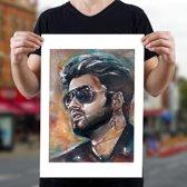 George Michael art print (50x70cm)