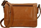 Old West Crossbody Schoudertasje met Overslag Cognac