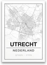Poster/plattegrond UTRECHT - A4