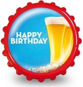 Bierdop flesopener happy birthday