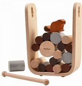 Plantoys - 4627 - Bever Spel - Stapelspel - Timber Tumble