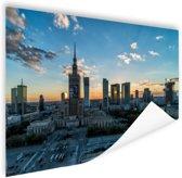 Warschau skyline Poster 180x120 cm - Foto print op Poster (wanddecoratie woonkamer / slaapkamer) / Steden Poster XXL / Groot formaat!