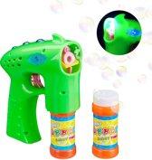 relaxdays Bellenblaas pistool - avontuur - bellenblaaspistool - bellenblaasvloeistof - LED groen