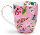 Pip studio Floral bloomintails mok XL roze 450ml