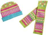 Heless Poppenkleding Muts En Sjaal Groen/roze 35-45 Cm