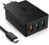 Aukey Quick Charge 3.0 oplader PA-T14 - 3 USB poorten - zwart