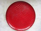 Onderbord Rood dierenprint van Mica set 4 stuks