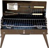 Koffer Houtskoolbarbecue - Incl. Spatel & Vleesvork