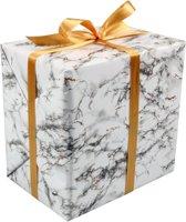 Cadeaupapier, 30cm, 200m, 80gr/m², Marmer, 797, wit