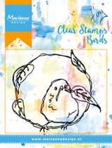 Mixed Media Clear Stamp Birds & Leaves