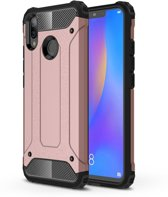 Let op type!! Diamond Armor PC + TPU warmte dissipatie beschermende case voor Huawei Nova 3i (Rose goud)