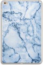 iPad Mini 4 Transparant Hoesje (Soft) - Blauw marmer