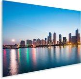 De rivier en Tianjin in de avond Plexiglas 180x120 cm - Foto print op Glas (Plexiglas wanddecoratie) XXL / Groot formaat!