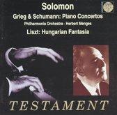 Grieg, Schumann: Piano Concertos / Solomon, Menges, et al