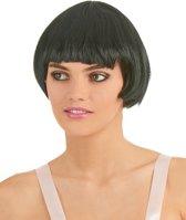 """""""Zwarte retro pruik voor vrouwen  - Verkleedpruik - One size"""""""