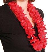 Hawaiketting met rode bloemen