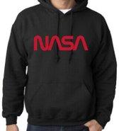 Hoodie sweater   Official NASA logo   maat XXL