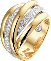 The Jewelry Collection Ring Diamant 0.51 Ct. - Bicolor Goud