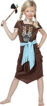 Indiaanse jurk Sacajawea luxe voor meisje maat 140