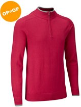 Vapour Casual Half Zip Lined Sweater - Berry (Rood)