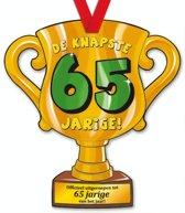 Trofee met lint - Trophy - 65 jaar