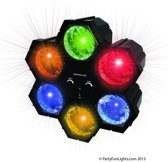 Discolamp met 6 LED lampen Regelbaar