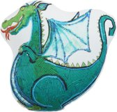 BH KIDS Dragon Cushion Green 42x42