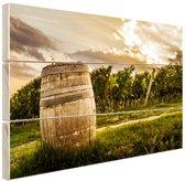 Wijngaard in Pesaro  Hout 60x40 cm - Foto print op Hout (Wanddecoratie)