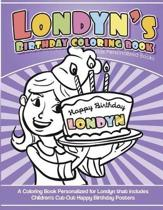 Londyn's Birthday Coloring Book Kids Personalized Books