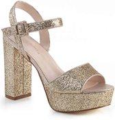 Fabulicious Hoge hakken -39 Shoes- CELESTE-09 Goudkleurig