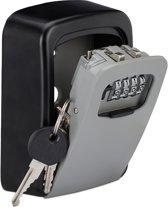 relaxdays sleutelkluis voor buiten - sleutelkastje met cijferslot - sleutelkluisje
