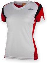 Eabel T-shirt dames - Wit/Rood  - Rogelli - Wit