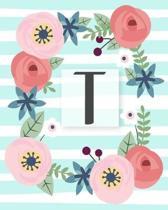T: Diario Agenda con copertina Monogramma. Date da Ricordare, Obiettivi, Priorita' e Spazio Appunti per i tuoi Pensieri!