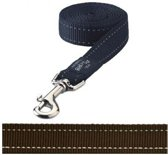 Rogz For Dogs Fanbelt Hondenriem - 20 mm x 1.4 m - Choco