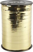Krullint, b: 10 mm, goud metallic, 250 m