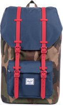 Herschel Little America - Rugzak - Woodland Camo / Navy / Red Rubber
