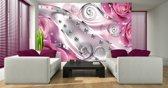 Poster | Roze , Zilver | 104 x 70,5 cm