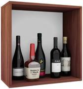Wijnkast wijnrek Weino I modulair samen te stellen noten