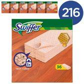 Swiffer Sweeper Parket Navulling - Voordeelverpakking 216 Stuks (6x16) - Vloerdoekjes