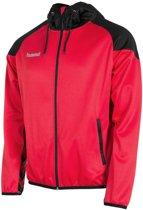 Hummel Authentic Full Zip Hoodie  Trainingsjas - Maat M  - Unisex - rood/zwart