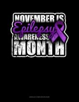 November Is Epilepsy Awareness Month: Unruled Composition Book