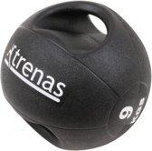 Trenas Medicijnbal - Medicine bal met dubbele handgrepen - Medicine bal Dual Grip - 9 kg - Zwart - (Professioneel gebruik)