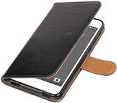HTC Desire 825 Zwart   Premium TPU PU Leder bookstyle / book case/ wallet case    WN™