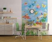 Elfjes en paddestoelen  - Fotobehang 183 x 254 cm