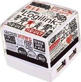 LogiLink USB 2.0 HUB, Cube, 4-Port, Beleuchtet, weiß