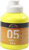 A-color acrylverf, neon geel, 05 - neon, 500 ml