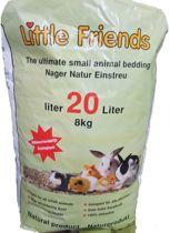 Little Friends Strokorrel - Kat, konijn en knaagdier - Bodembedekking en Kattenbakvulling - 8 kg